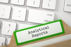 Inscription de dossier aux rapports analytiques 3d Image stock