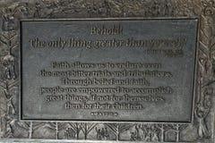 Inscription de foi sur le cuivre images libres de droits