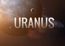 Inscription de inspiration d'Uranus sur le fond de photo stock