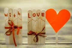 Inscription de jour de valentines avec amour Photo stock