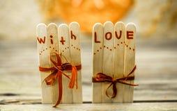 Inscription de jour de valentines avec amour Images libres de droits