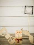 Inscription de jour de valentines avec amour Photos libres de droits