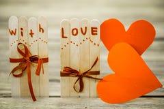 Inscription de jour de valentines avec amour Photo libre de droits