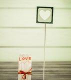 Inscription de jour de valentines avec amour Photographie stock