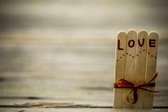Inscription de jour de valentines avec amour Photographie stock libre de droits