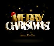 Inscription de Joyeux Noël et de bonne année illustration libre de droits