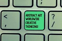 Inscription de l'abrégé sur Art Worldwide Creative Thinking apparence de note Photo d'affaires présentant l'inspiration moderne a photographie stock libre de droits