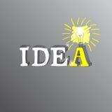 Inscription de la main de l'idée de mot Images libres de droits