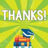 Inscription de la note montrant des mercis Gratitude de présentation de reconnaissance de salutation d'appréciation de photo d'af illustration de vecteur