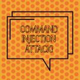 Inscription de la note montrant l'attaque d'injection de Comanalysisd Exécution de présentation de photo d'affaires des comanalys illustration stock