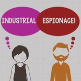 Inscription de la note montrant l'espionnage industriel Forme de présentation de photo d'affaires d'espionnage conduite pour des illustration de vecteur