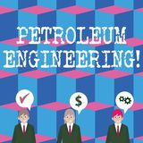 Inscription de la note montrant l'ingénierie de pétrole Activités de présentation de photo d'affaires relatives à la product illustration libre de droits
