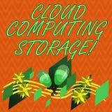 Inscription de la note montrant le stockage de Cloud Computing Des données numériques de présentation de photo d'affaires sont st illustration libre de droits