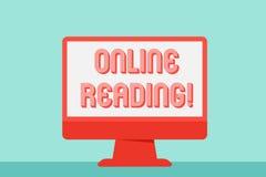 Inscription de la note montrant la lecture en ligne Le processus de présentation de photo d'affaires d'extraire la signification  illustration de vecteur
