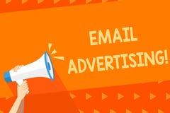 Inscription de la note montrant la publicité d'email Acte de présentation de photo d'affaires d'envoyer un message commercial à l illustration de vecteur