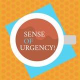 Inscription de la note montrant la sensation d'urgence Priorité de présentation ou quelque chose de photo d'affaires première d'ê illustration stock