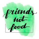 Inscription de la nourriture d'amis d'inscription pas illustration de vecteur