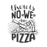 Inscription de la pizza de citation Photo stock