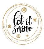 Inscription de lettrage à la conception de vacances d'hiver photographie stock
