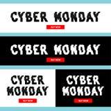 Inscription de lundi de Cyber dans l'idéal tordu de style de problème pour annoncer, stigmatisant, actions, promotion illustration stock