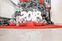 Inscription 2018 de nouvelle année Image stock