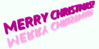 Inscription de vacances, Joyeux Noël Isoleted sur le fond blanc 3d illustration de vecteur