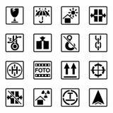Inscription de vecteur d'ensemble d'icône de cargaison Image stock