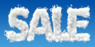 Inscription de vente des nuages dans le ciel 3d illustration de vecteur