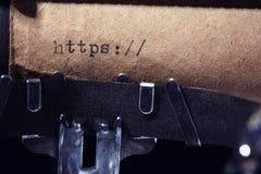 Inscription de vintage faite par la machine à écrire Image libre de droits