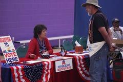 Inscription des électeurs républicaine Images libres de droits