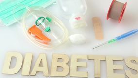 Inscription diabetes. stock video