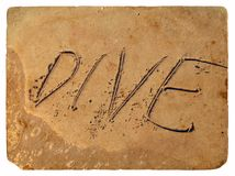 The inscription dive of the sand. Old postcard. Royalty Free Stock Photos