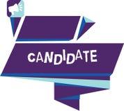 Inscription du candidat d'apparence de note Démonstration de présentation de photo d'affaires qui fait acte de candidature pour l image libre de droits