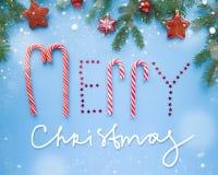Inscription du Joyeux Noël Photo stock