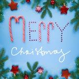 Inscription du Joyeux Noël Image stock