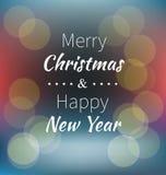 Inscription du Joyeux Noël et de la bonne année Image stock