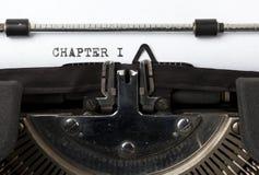 Inscription du premier chapitre photos stock