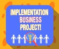 Inscription du projet d'affaires d'exécution d'apparence de note Processus de présentation de photo d'affaires d'exécuter un plan illustration libre de droits