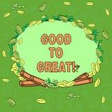 Inscription du showingGood de note à grand Photo d'affaires présentant tout obtenant bien mieux obtenant le succès en guirlande d illustration de vecteur