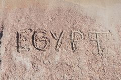 Inscription  Egypt on a sand Royalty Free Stock Image