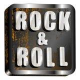 Inscription en métal de rock Images libres de droits