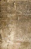 Inscription en pierre qui a montré l'histoire de la Thaïlande Image libre de droits