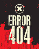 Inscription error 404. Banner with the inscription error 404 against the backdrop of blood stains Royalty Free Stock Images