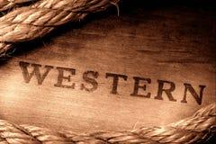 Inscription estampée occidentale de rodéo occidental américain Image stock