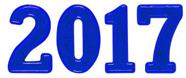 inscription 2017, faite de chiffres en métal, d'isolement sur le dos de blanc Photos libres de droits