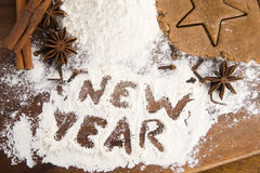 The inscription on the flour - New Year Stock Image