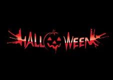 Inscription Halloween vector illustration