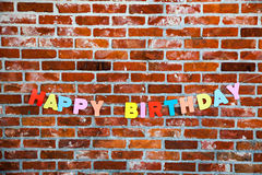 Inscription Happy Birthday by individual letters Stock Images