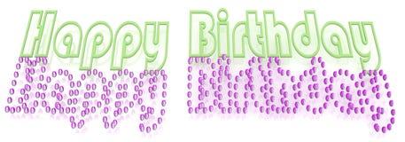 Inscription happy birthday Royalty Free Stock Image
