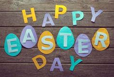 Inscription Happy Easter day Royalty Free Stock Photography